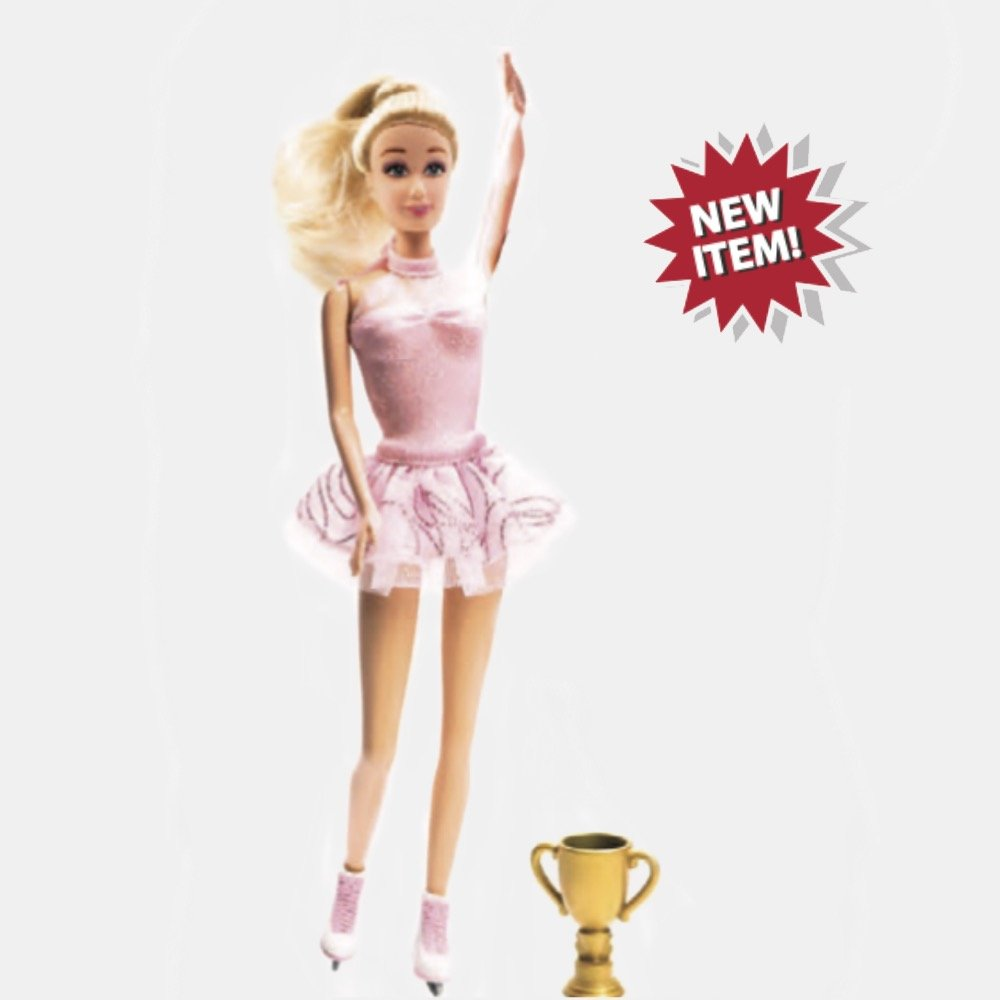 JC-10021 Ice Skating Doll with Trophy