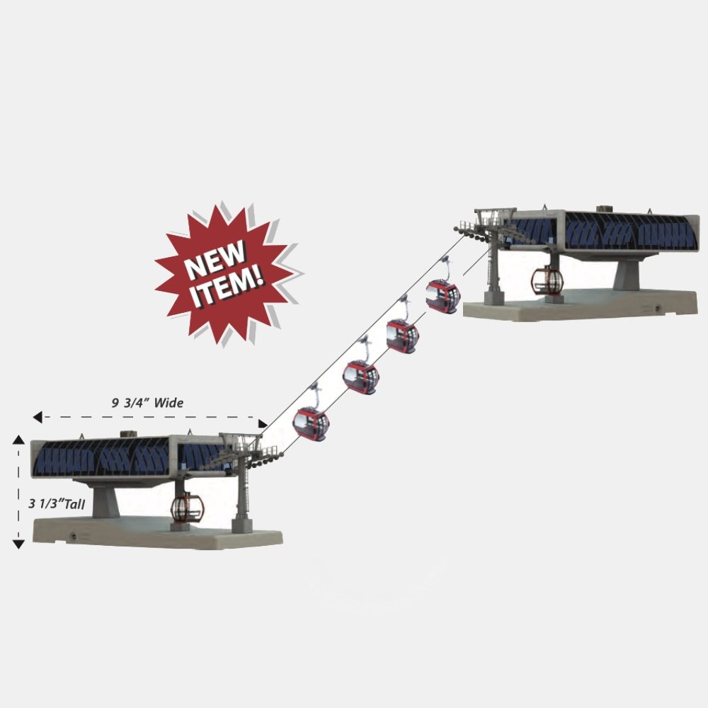 JC-82496 Grey HO Ski Lift