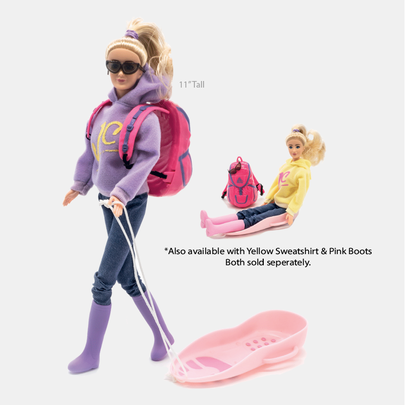 JC-10022 Doll with Sled and Backpack