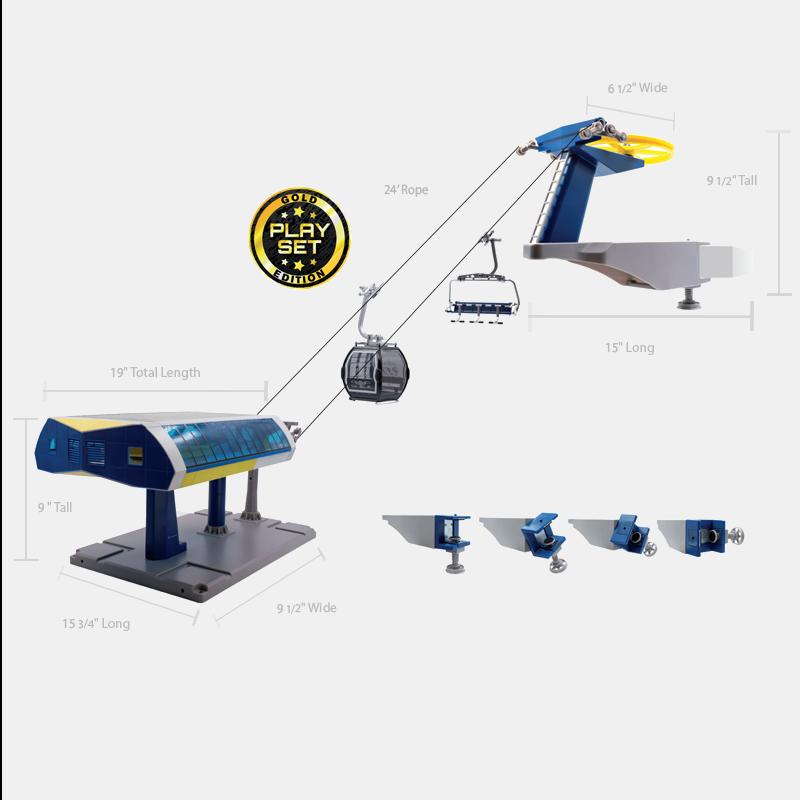 JC-84393 Uni-G Pro Set Ski Lift (Blue, Gray & Yellow)